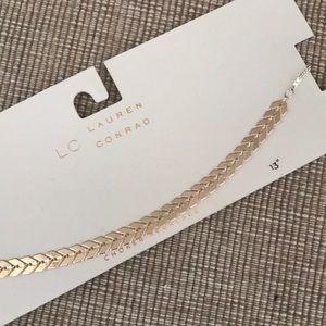 New LC Lauren Conrad choker 2 tone necklace